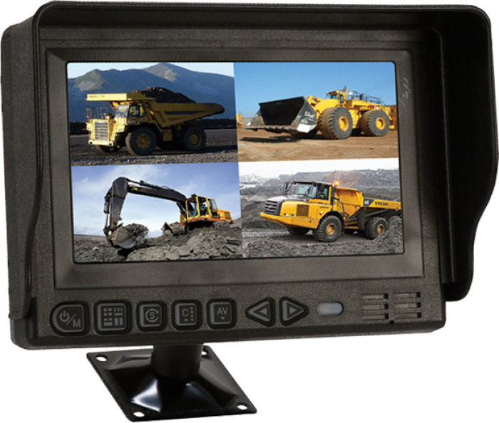 "S-CMT704Q HD-Monitor 7"" QUAD VISION"